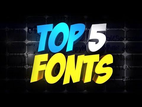 Top 5 Best Fonts For Thumbnails