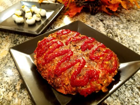 💖 Halloween Recipes | Zombie Brain Meatloaf Homemade Recipe | Party ideas for Halloween  🎃