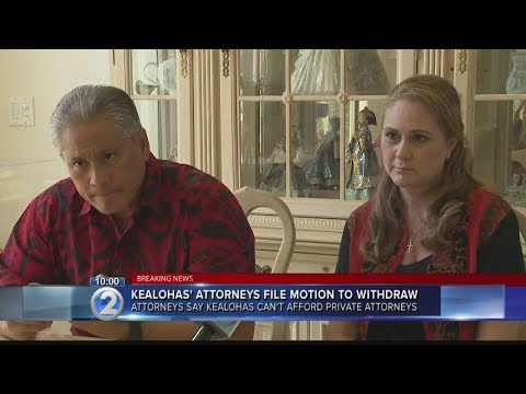 Attorneys file motion to withdraw as counsel, Kealohas 'can no longer fund a defense'