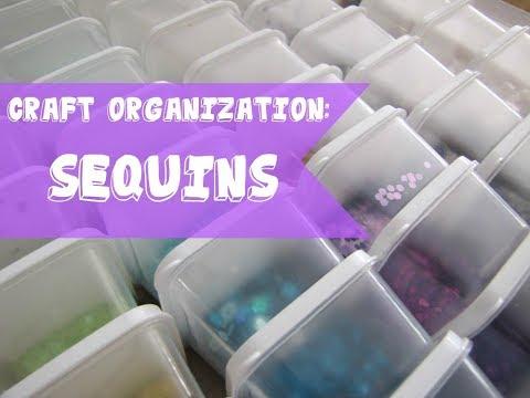 Craft Organization: Sequins