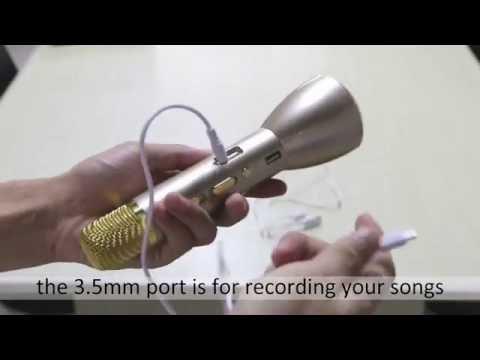 Bluetooth Karaoke Player Microphone Speaker Instruction