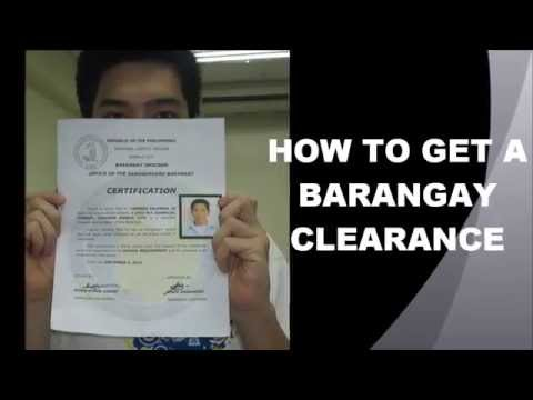 How to get a Barangay Clearance (National University ECE students)