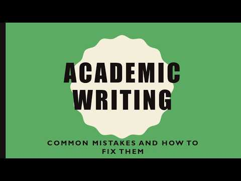 Common Mistakes in Academic Writing