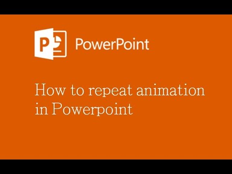 How to repeat animation in Powerpoint