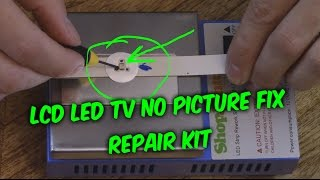 Easy Led Lcd Tv Fix No Picture Black Screen Backlight Repair Kit