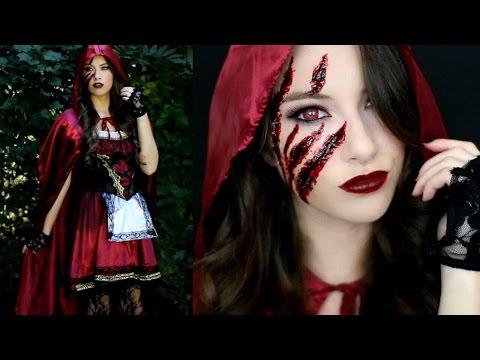 Little Red Riding Hood Halloween Makeup Tutorial & Costume!