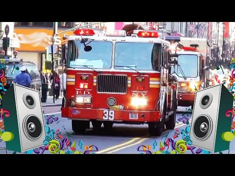 Fire Engine Song For Kids - Fire Truck Videos for Children
