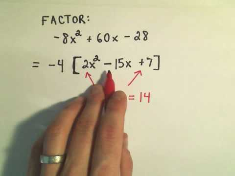 Factoring Trinomials : Factor by Grouping - ex 3