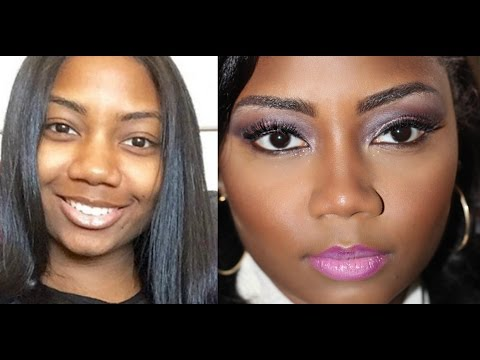 Makeup for round face|wide nose|dark skin |survivingbeauty2