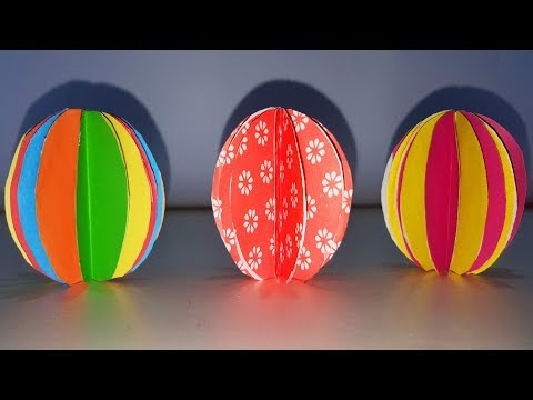 How To Make A Paper Ball Christmas Ornament. DIY Paper Ball. Paper Decorations Ideas.