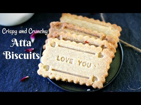 Atta Biscuits | Wheat Biscuits | Eggless, No Maida Baking Powder or Soda