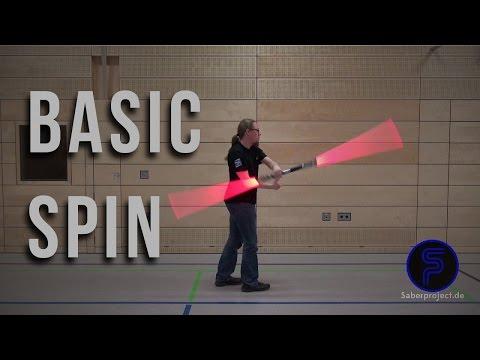 Basic Spin - Staff Lightsaber Trick