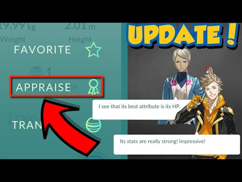 Pokemon Go UPDATE - NEW APPRAISE FEATURE - How to Check IV Guide