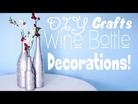 Simple Quick DIY Wine Bottle Craft!