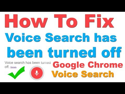 Fix : Google Chrome Voice search Has Been Turned off (Unable to do a voice search on Your PC?)