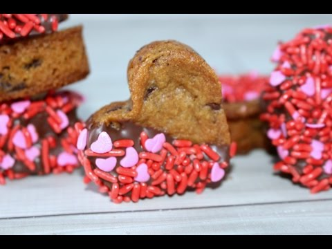 Valentine's Day Chocolate Chip Heart Cookies