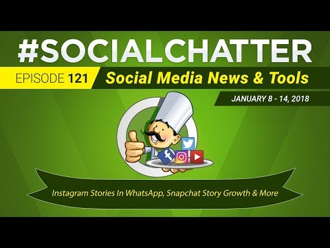 Social Media Marketing Talk Show 121 - Instagram Stories in WhatsApp and Facebook Portal
