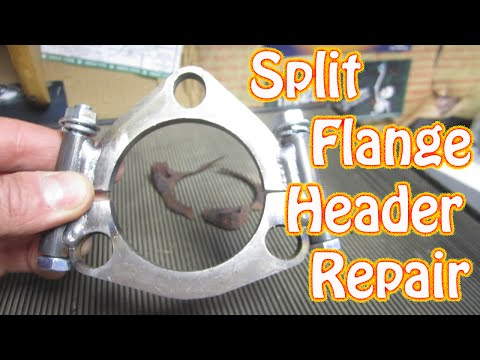 DIY - How to Repair Rusted Exhaust Header Flange Using a Split Flange Adapter - Chevy Truck Vortec