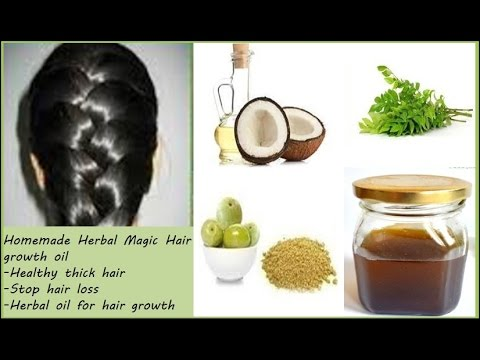 Homemade Herbal Magic Hair growth oil