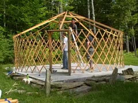 How to  build a Yurt in under 2 minutes
