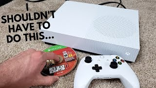 How to Play Game Discs on the DISCLESS XBOX ONE S!!