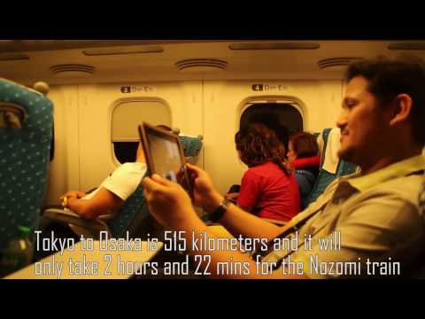 Japan trip part 4:  Bullet train (Shinkansen) to Osaka and Food trip Namba