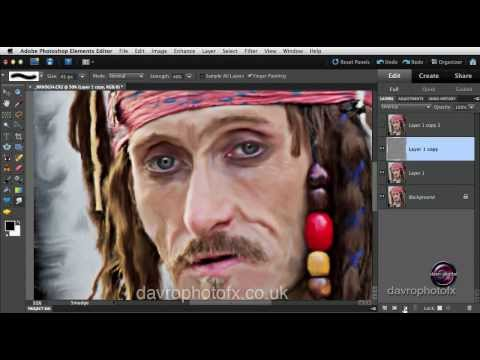 Oil painting effect using Smudge tool in Photoshop