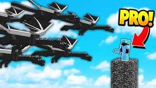 DRAGON ARMY vs MINECRAFT PRO! (Minecraft BED WARS)