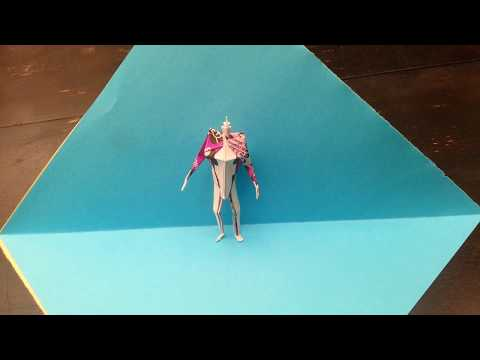 How to make an easy origami soldier man