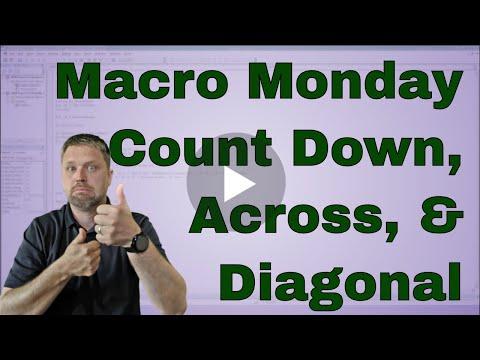 Macro Monday Count Down, Across, Diagonal