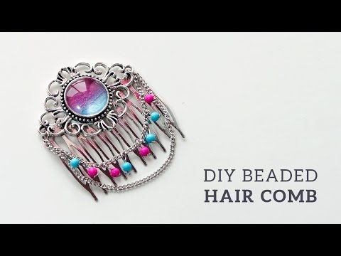 DIY Beaded Hair Comb | Bridal Hair Piece