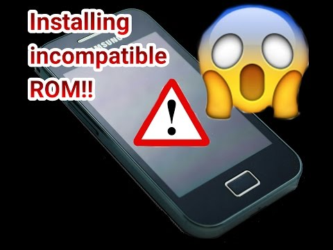 Android Experiment- How to screw up your device- Installing incompatible ROM!!