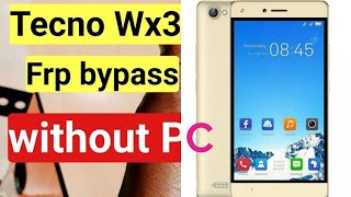 Tecno WX3 FRP Lock Remove On Android Nougat V7 0 Without Pc