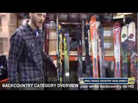 Backcountry Skis, Boots Category Review & Comparison Video / ORS Cross Country Skis Direct