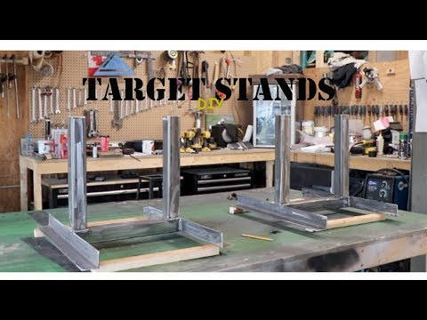 How to build Target Stands - Metal and Wood
