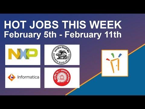 Freshersworld Hot Jobs Of The Week-(Feb 5th–Feb 11th) – RBI, NXP Semiconductors, RRB, Informatica