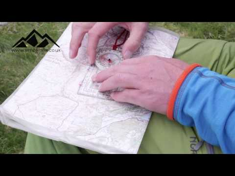 Advice Video How to Take a Compass Bearing on a Map - www.simplyhike.co.uk