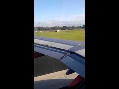 Easyjet takeoff at Belfast international airport