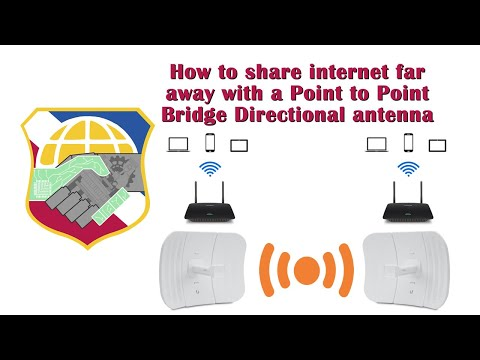 How to share internet far away with a P2P Bridge Directional antenna - ubiquiti litebeam M5 point