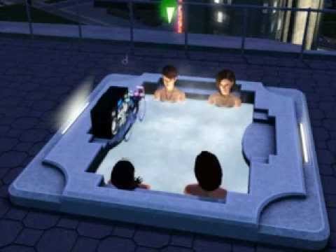 Sims 3: Making a Move in the Hot Tub