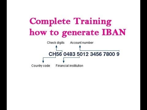 how to Generate international bank account number IBAN, What is IBAN