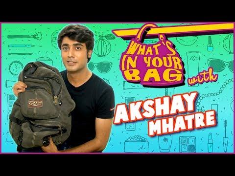 Akshay Mhatre aka Naren Handbag SECRET REVEALED | Piyaa Albela | What's in your Bag | TellyMasala