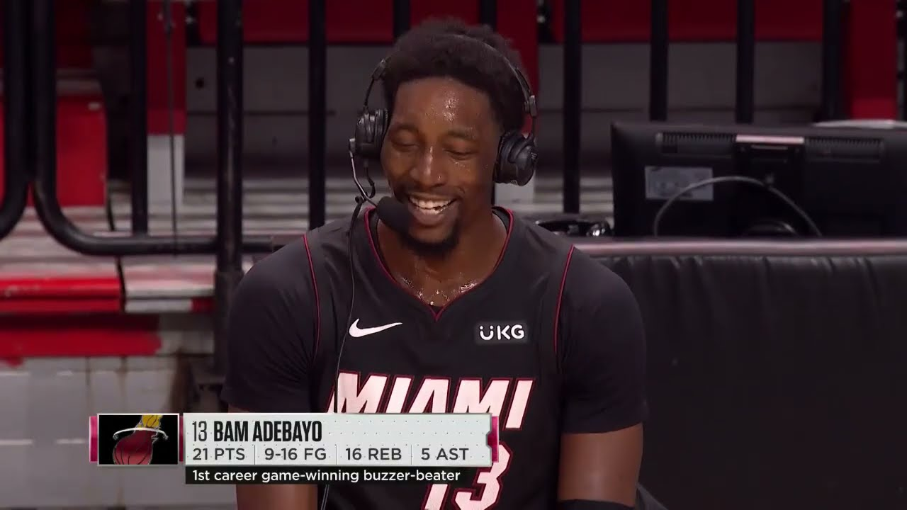 Bam Adebayo Wanted To Channel His Inner Dwyane Wade After His Game-Winner
