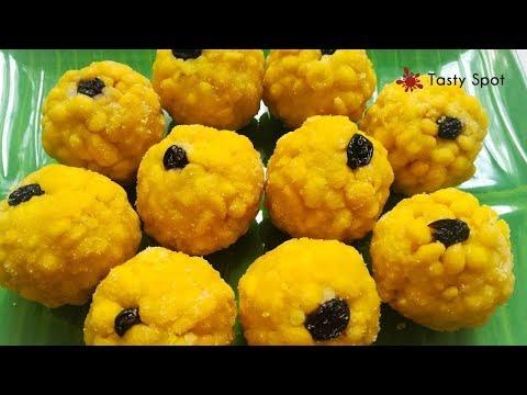 Boondi Ladoo Recipe/Laddu/ലഡ്ഡു/In Malayalam - Recipe# 75