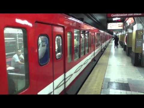 Subway train leaving station - Buenos Aires