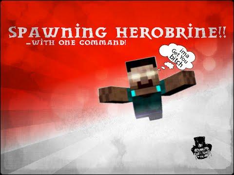 Spawning HEROBRINE!!! - ONE COMMAND