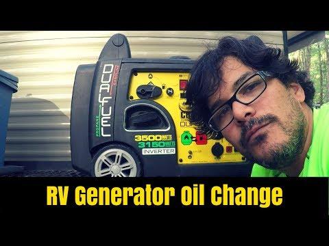RV Generator Oil Change - Champion 3500 Watt Dual Fuel Generator
