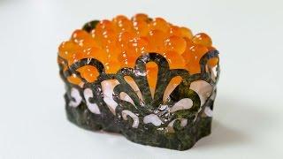 Cutting Nori in Patterns - Sushi Cooking Ideas #2