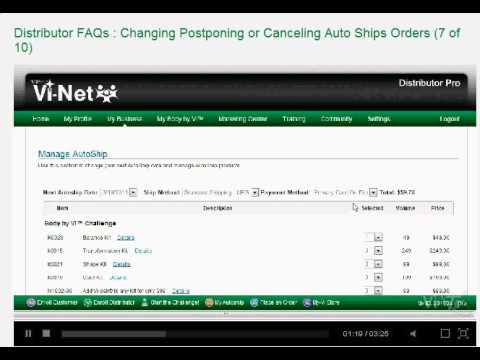 How to Change, Suspend, or Cancel your Visalus Autoship