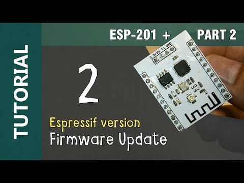 ESP8266 ESP-201 WiFi IoT Flashing Firmware Update Espressif Version Tutorial 2